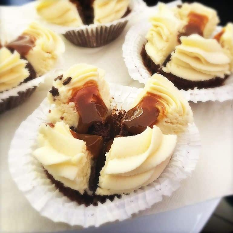 Chocolate and caramel cupcake at Mintastique, Leipzig