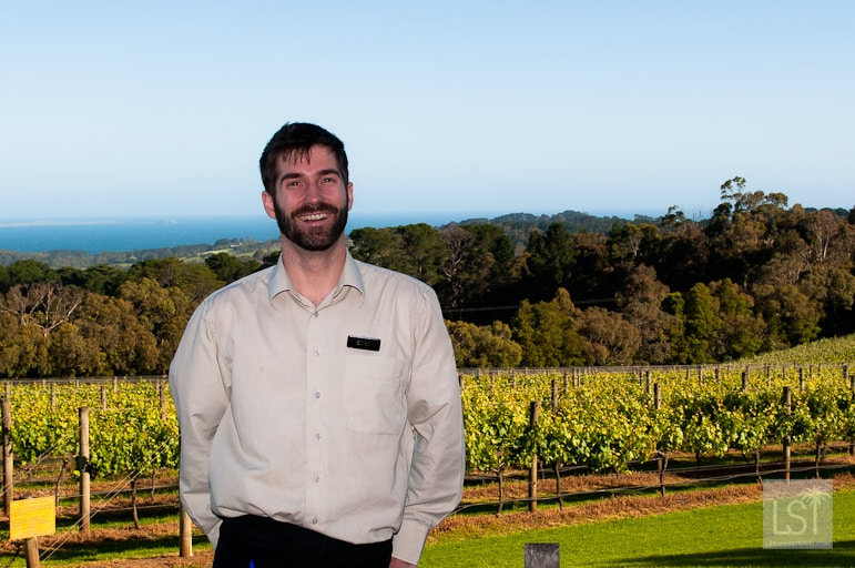 Hugo Perrin, restaurant manager at Max's at Red Hill Estate