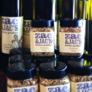 Locally produced olive oil and dukkah - a trendy dip in on sale at Crittenden Estate