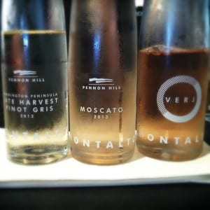 Montalto's Late Harvest Pinot Gris, Moscato and Verj