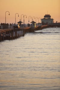 St Kilda Pier and Pavilion at dusk