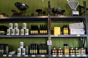 Weights, measures and condiments at Green Olive at REd Hill