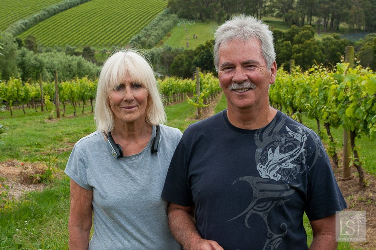 Wendy and John Mitchell of Montalto Vineyard and Olive Grove in Mornington Peninsula, one of Australia's best wine regions