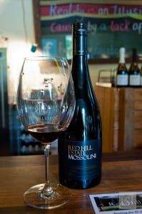 Wine tasting at Red Hill Estate