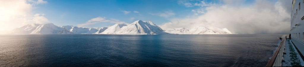 Arctic Norway cruise views in Finnmark County