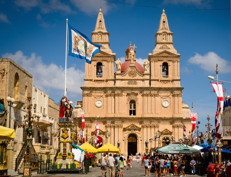 Mellieħa parish church is one of the historic sites close to Island Residence Club by Steven Mileham