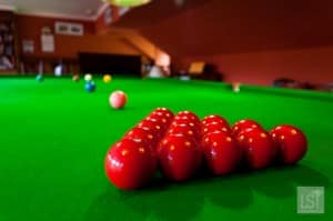 Snooker table in the games room at Melfort Village