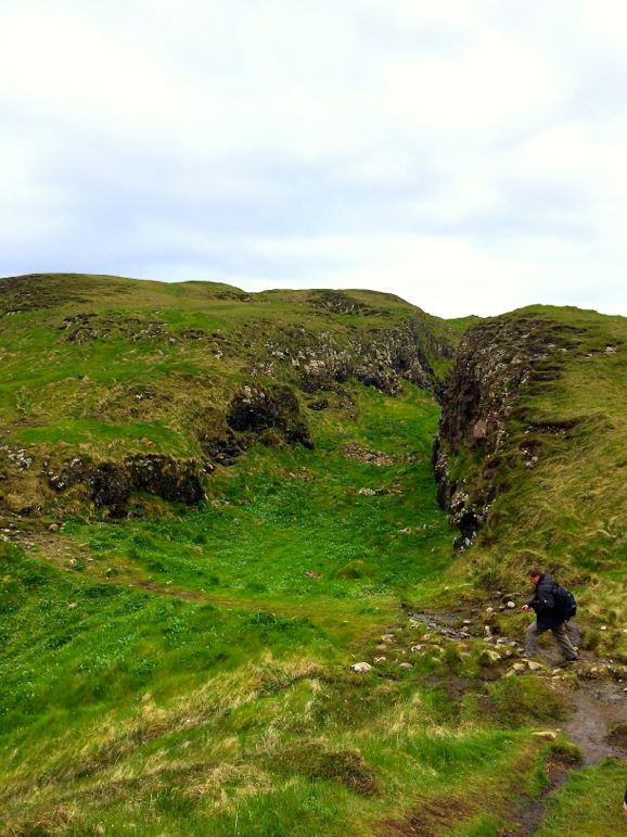 The landscape of Staffa Island