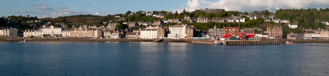 Holidays in Oban - the view across Oban Bay