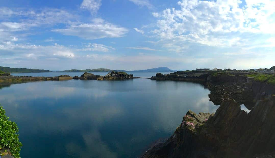 One of my favourite spots in western Scotland - the view from Seil Island's Oyster Bar is spectacular