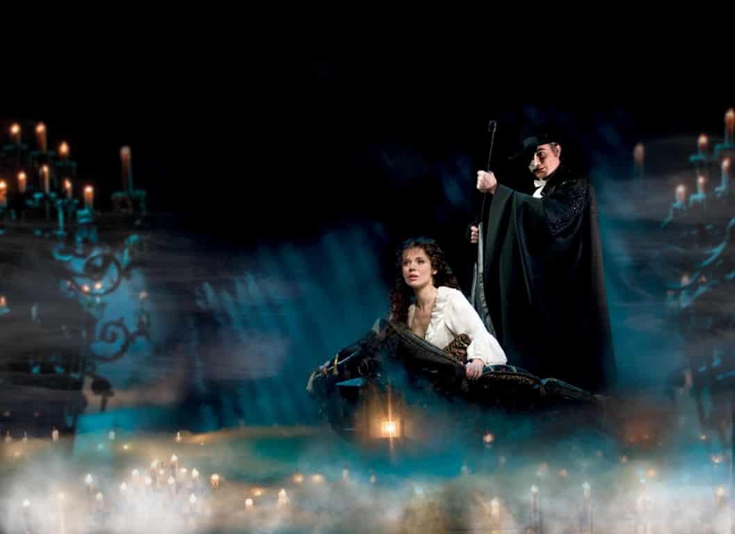 Phantom & Christine in the boat