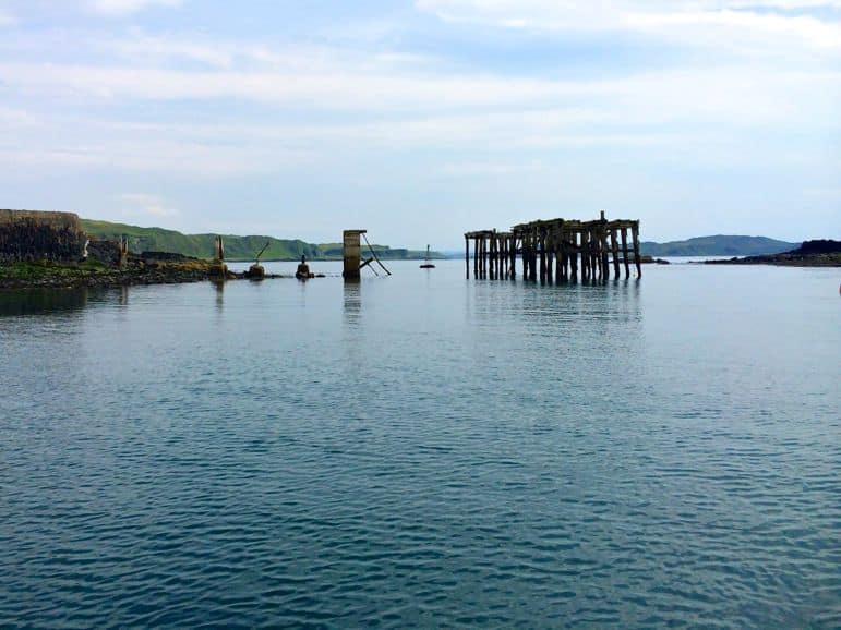 Sailing from Easdale on Seil Island to Easdale Island