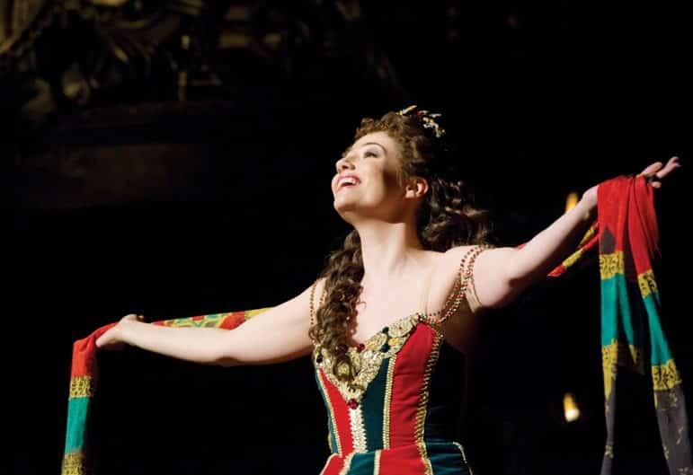 Sofia Escobar as Christine in The Phantom of the Opera.