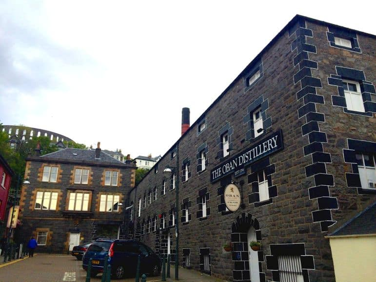 The Oban distillery, in the heart of Oban