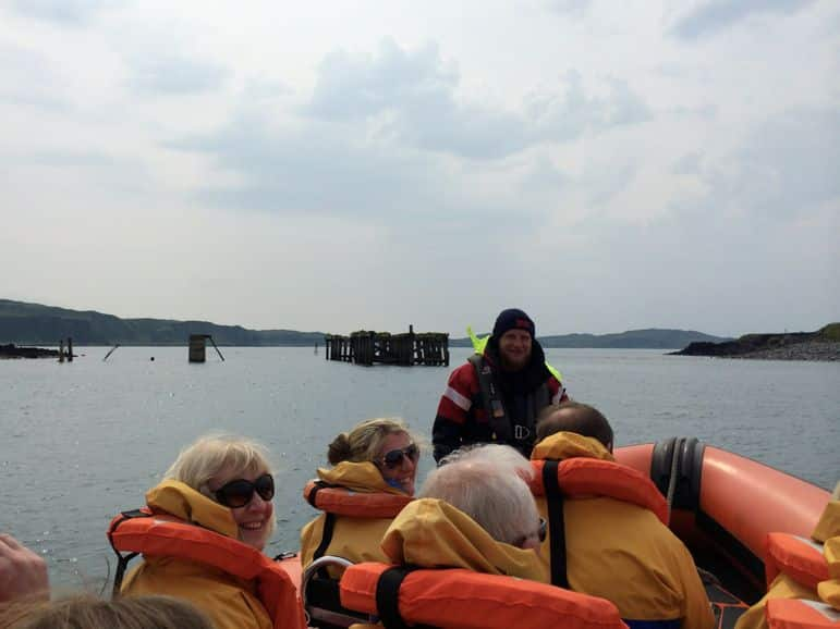 Dressed in yellow and off to see the Corryvreckan whirlpool on our Seafari Adventure