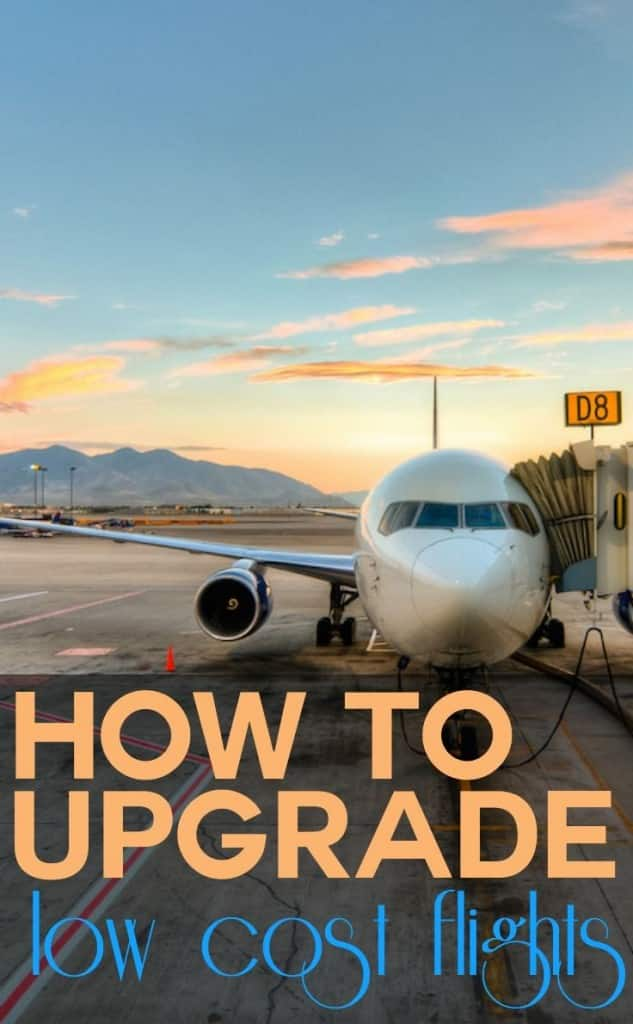 How to upgrade low cost flights