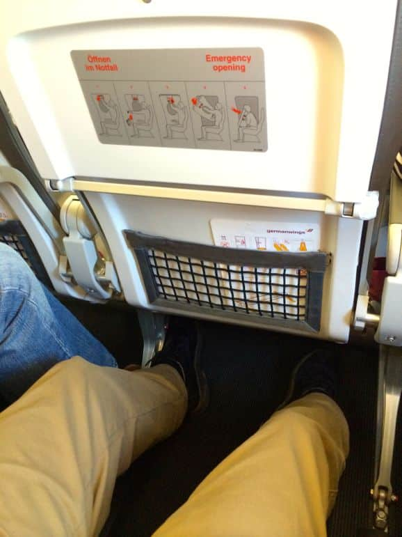 Plenty of legroom in Germanwings' Smart seats
