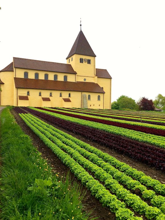 Sankt Georg Church on UNESCO World Heritage site Reichenau Island