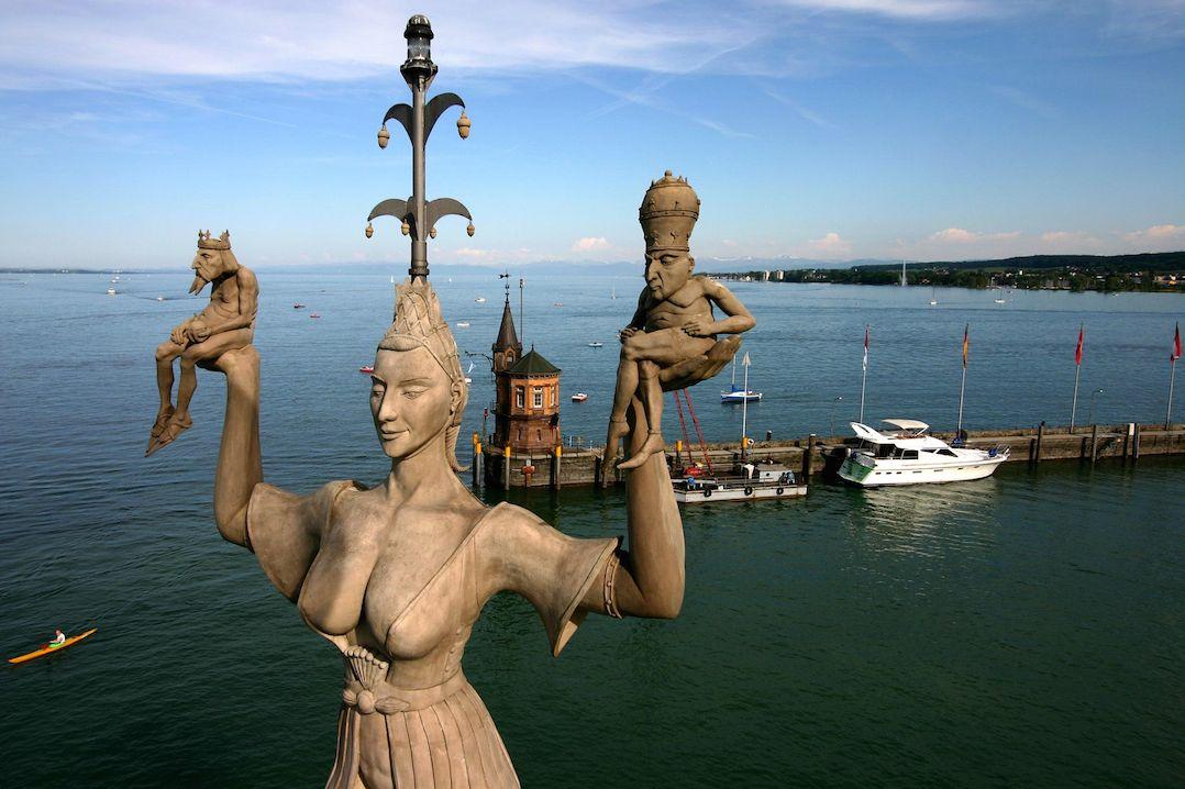 The Imperia Statue in Lake Constance pic Achim Mende