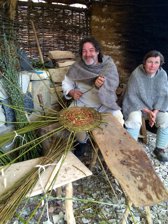 The basket weavers at Germany's Campus Galli - a project aiming to build a mediaeval monastery using all traditional methods