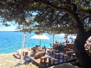 A cool spot at Carpe Diem beach club, Croatia