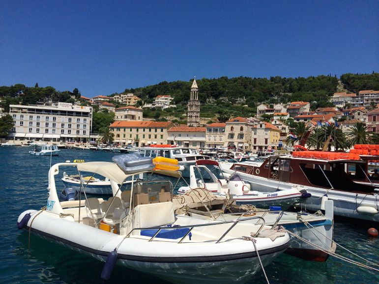 Arriving in Hvar Town for some us time on the island