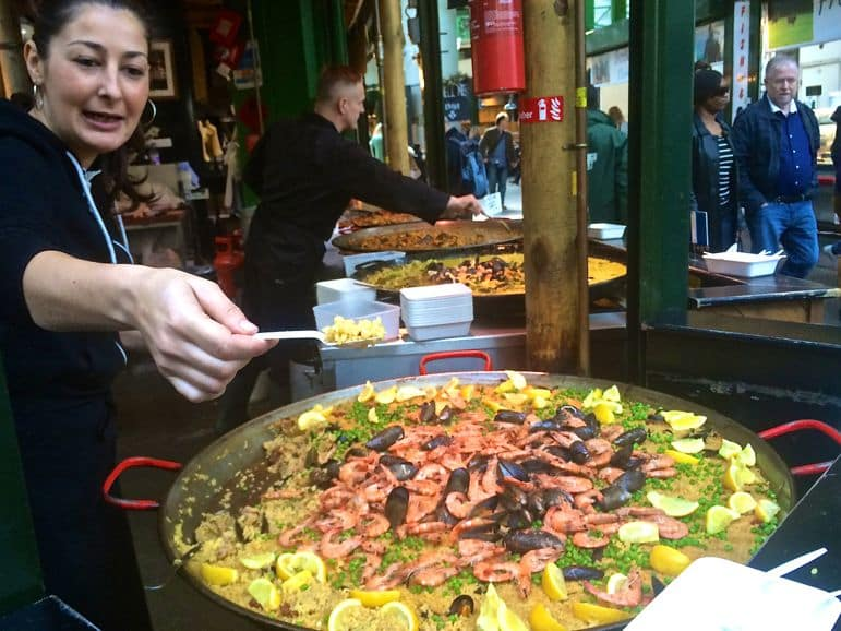 Borough Market is one of the best places to go in London for foodies