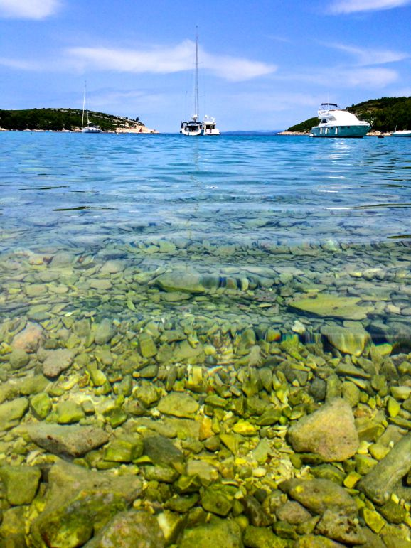 The clear seas of Pribinja Bay make it a perfect spot for a little travel together