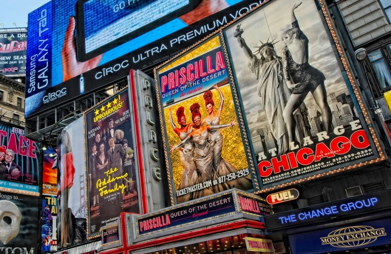 Say hello to Broadway - one of the best places to go in New York