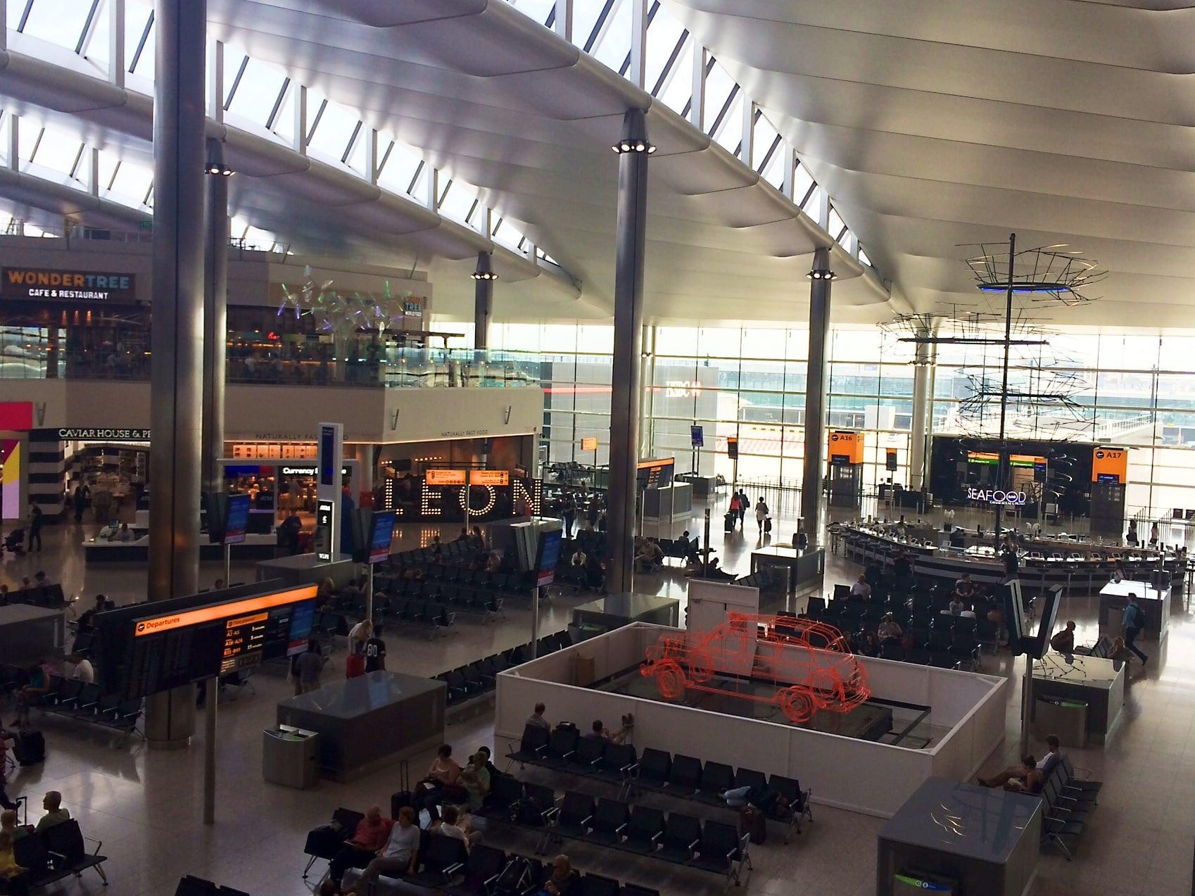 Departures at Heathrow Terminal 2