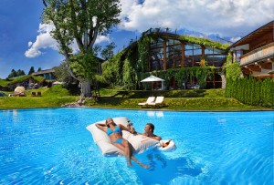 Family swimming pool at the Bio-Hotel Stanglwirt