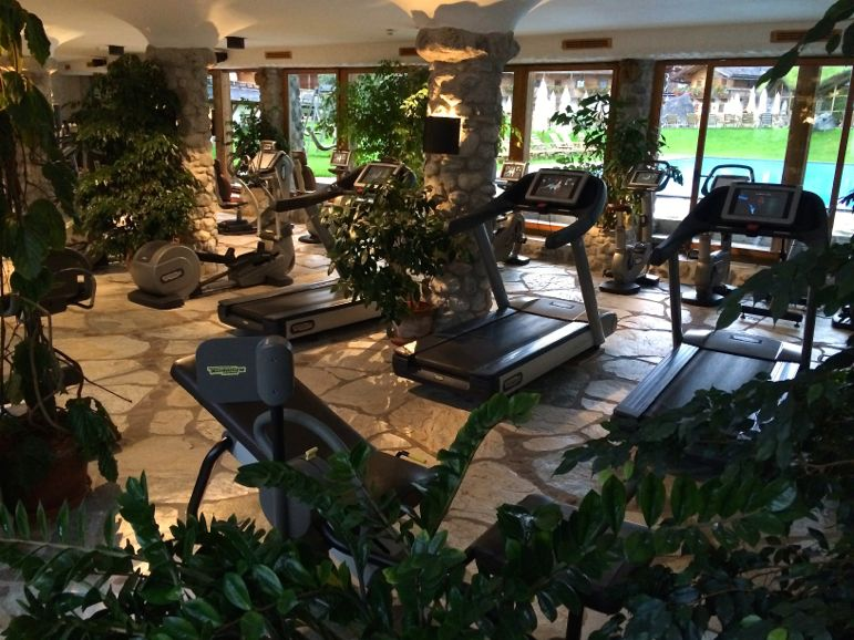 Fitness garden - a luscious green workout studio, at Bio-Hotel Stanglwirt, Tirol Austria