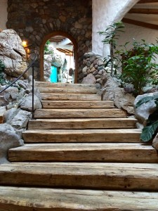 Heading into the family spa at Bio-Hotel Stanglwirt in Tirol Austria