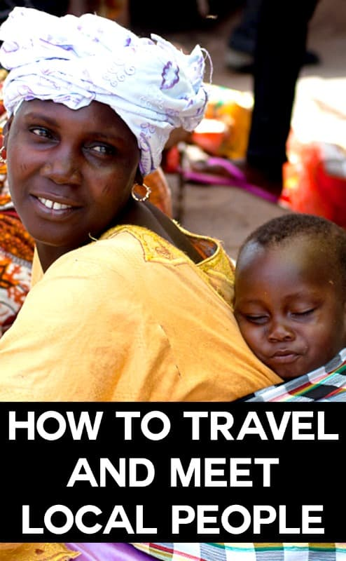 How to travel and meet local people