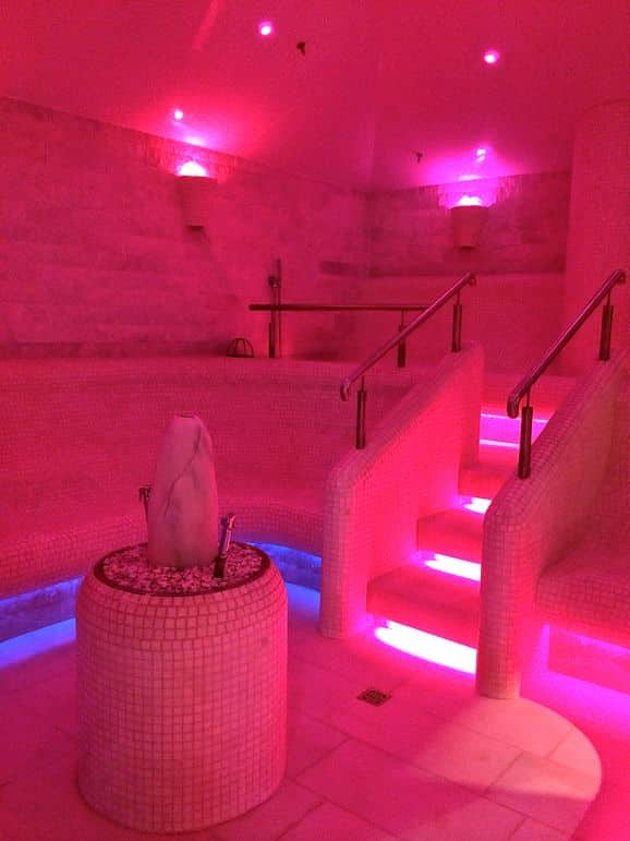 Marble Turkish bath at Bio Hotel Standlwirt, in Tirol Austria
