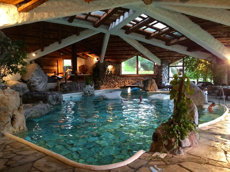 Indoor-outdoor family pool at Bio-Hotel Stanglwirt, Tirol Austria