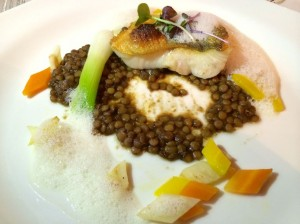 Pike perch with balsamic lentils at Bio-Hotel Stanglwirt