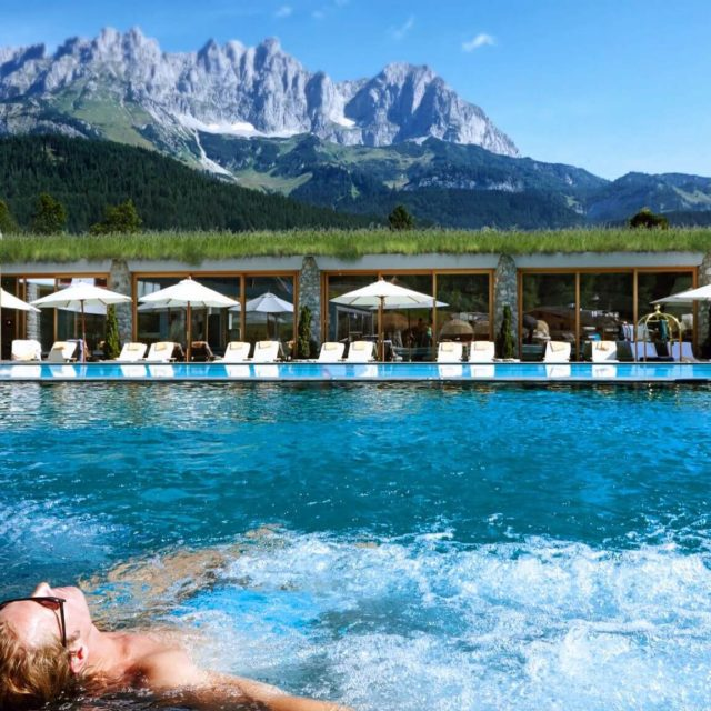 Pool at Bio-Hotel Stanglwirt in Tirol Austria