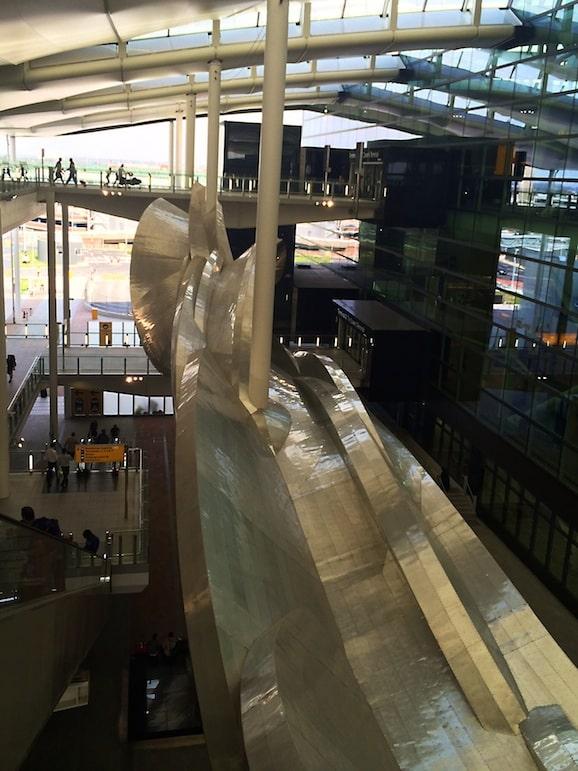Slipstream by Richard Wilson, at Heathrow Terminal 2