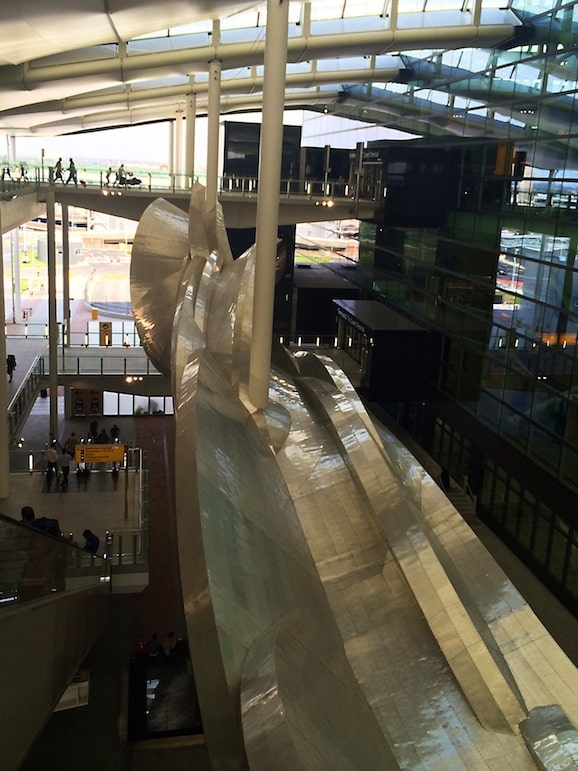 Slipstream by Richard Wilson, at Heathrow Terminal 2