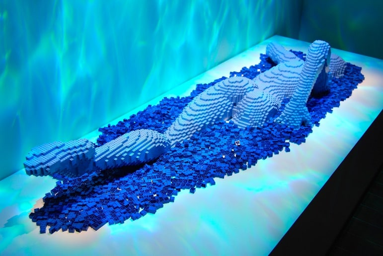 The Art of the Brick Exhibition, Discovery Times Square is one of our favourite places to go in New York for families