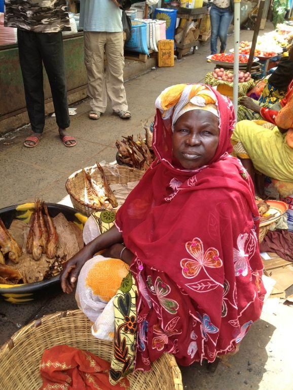 Woman at Serrekunda Market