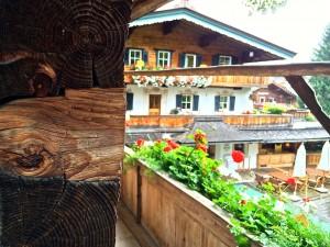 Wood, wood, everywhere at Bio-Hotel Stanglwirt in Tirol Austria