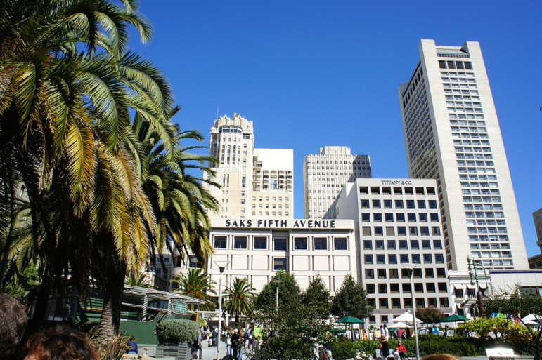 Union Square, one of the best places to in San Francisco for shopping. Pic: Zac Fox