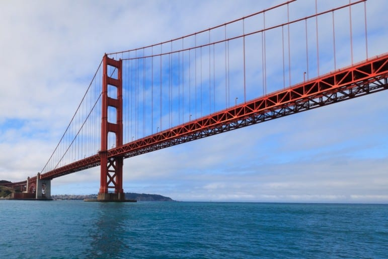 The Golden Gate Bridge, one of the best places to go in San Francisco