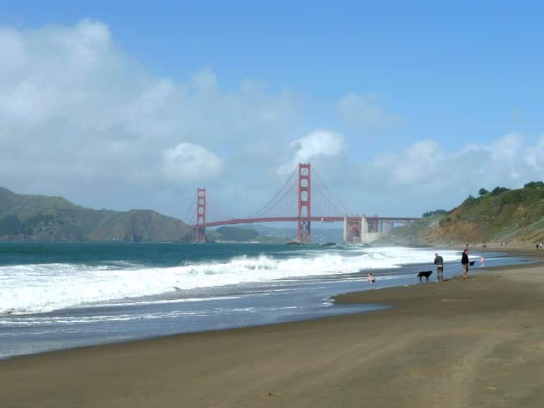 Baker Beach, one of the most scenic places to go in San Francisco. Pic: Mark Hogan