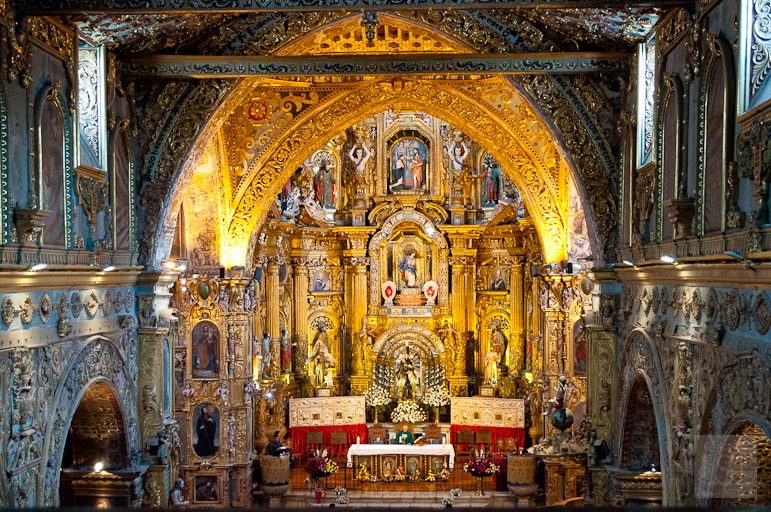 Altar at the Church of San Francisco, Quito