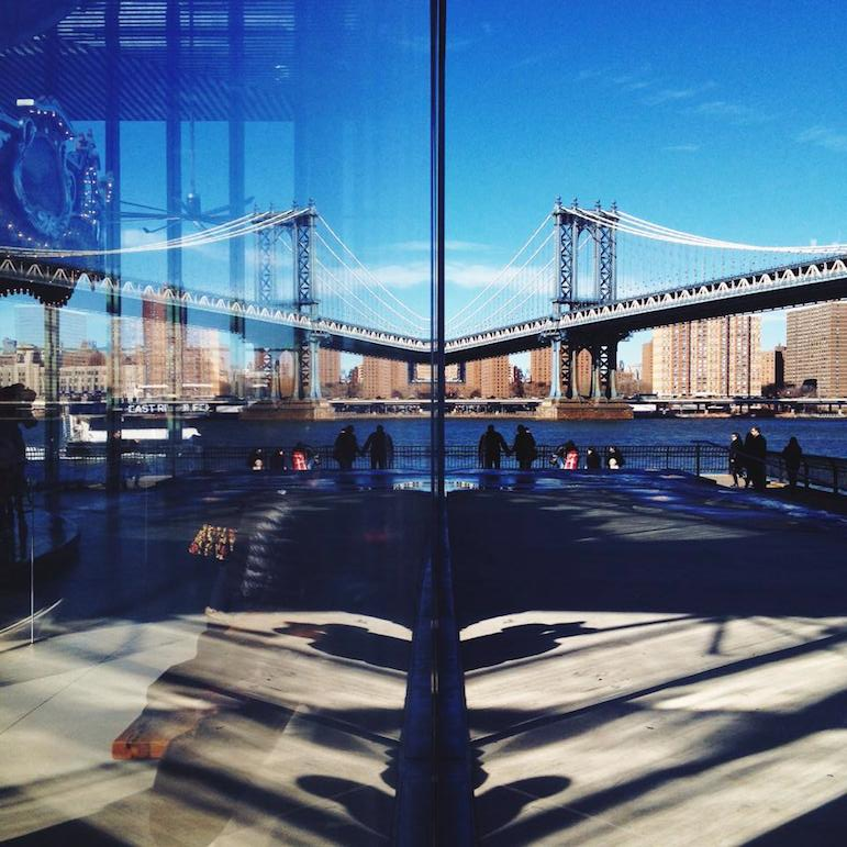 Places to go in New York for history - reflecting on Brooklyn Bridge