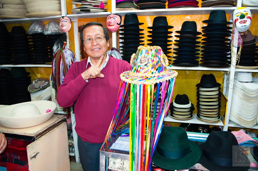 Things to do in Quito: go hat shopping