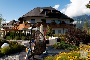 Relaxing in the gardens at Kaiserhof, one of Austria's most luxurious hotels